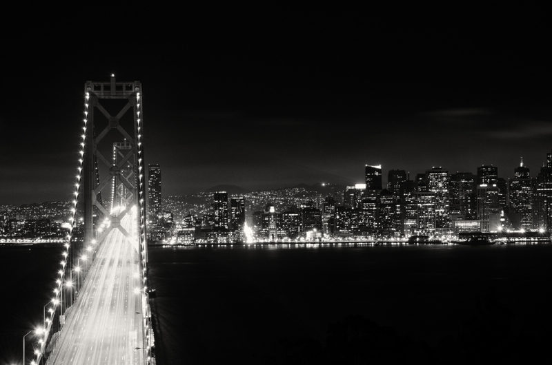 bay bridge night shot