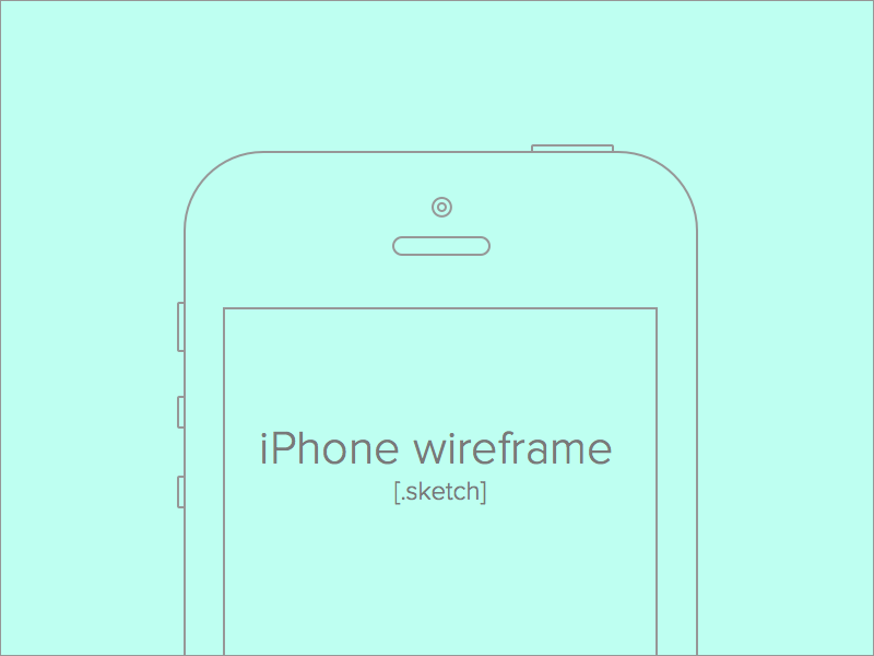 iPhone Wireframe for Sketch