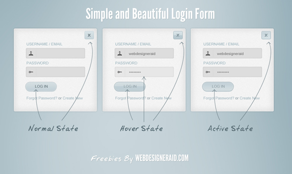Simple and Beautiful Login Form PSD