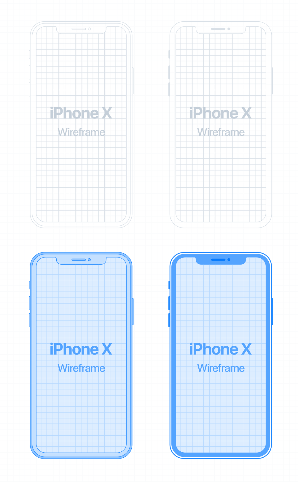 Mockups iPhone X Wireframe