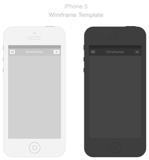 Iphone5 Wireframe Template