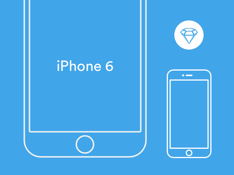 iPhone 6 Wireframe Sketch Template