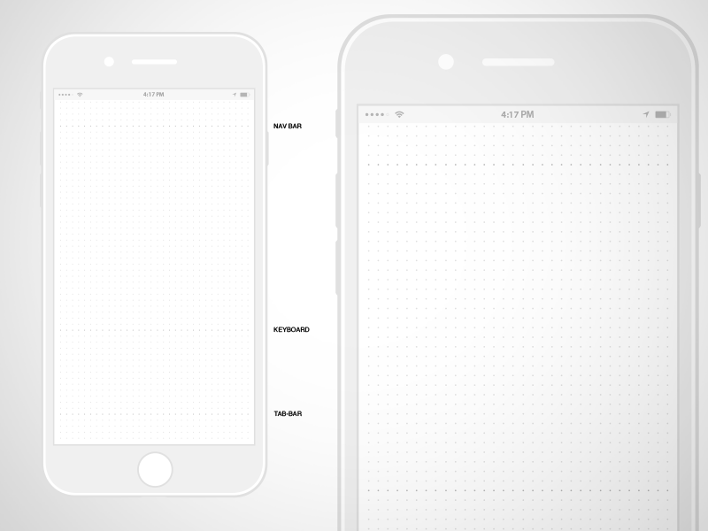 iPhone 7 Wireframe Sketch Resource