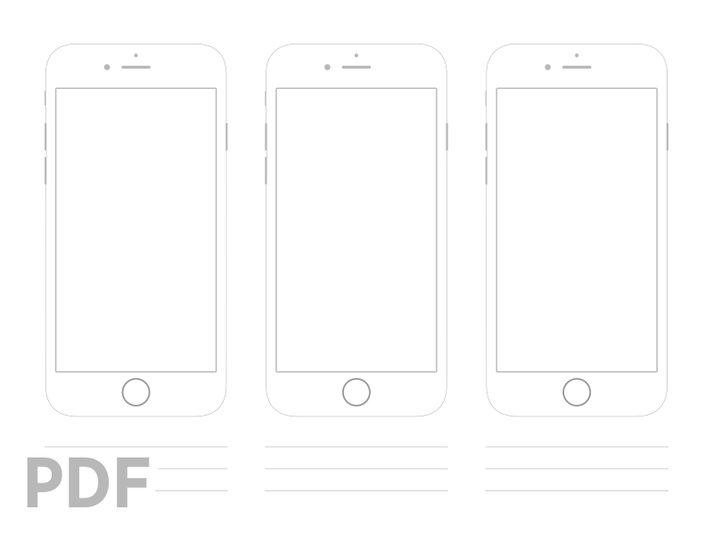 iPhone 6 Printable Wireframes