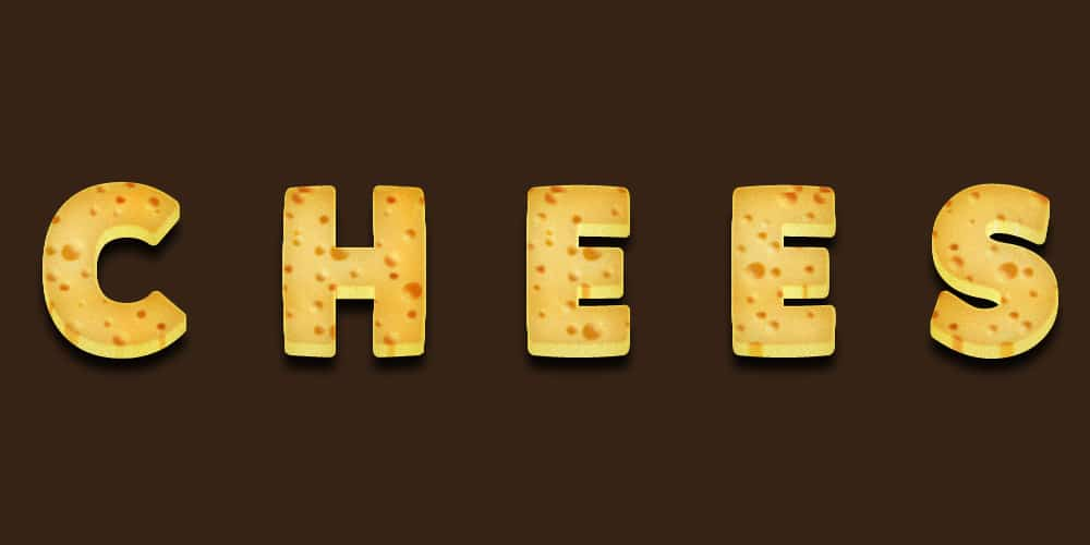 Free Cheese Text Effect PSD
