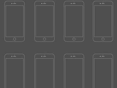 iPhone 6 Wireframe PSD