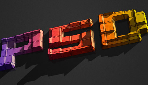 3D Text Blocks
