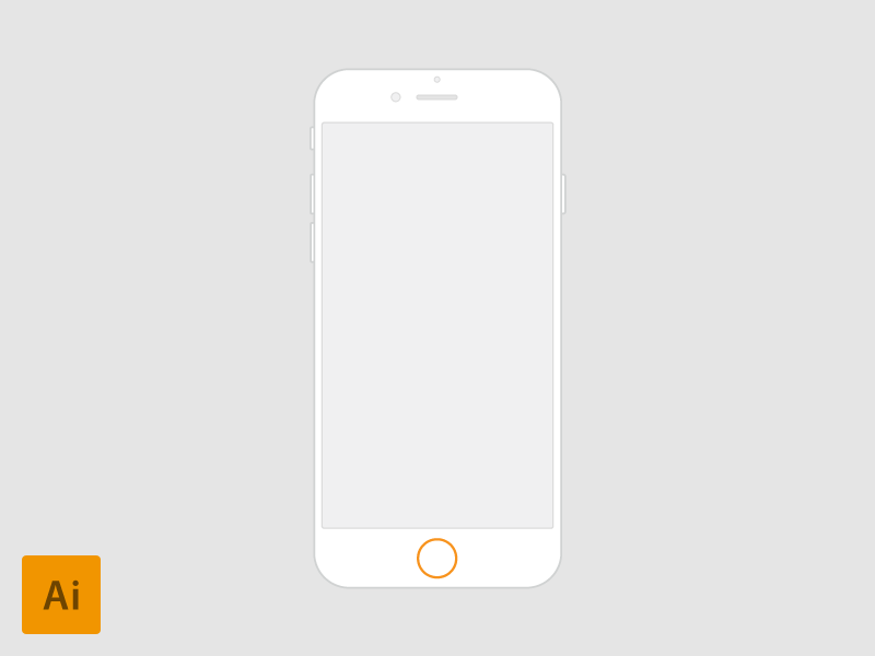 iPhone 6 - 4.7'' vector for Wireframes