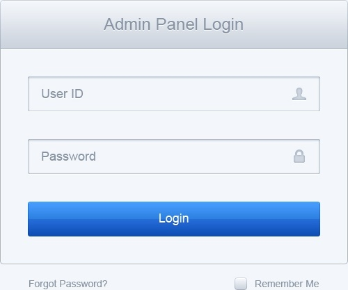 Clean Log In Form PSD Free