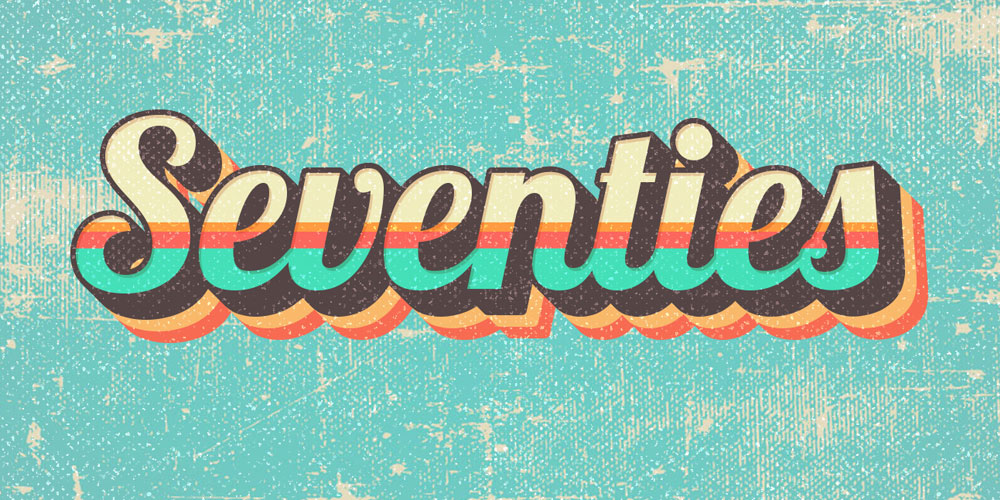 Seventies Style Text Effect PSD