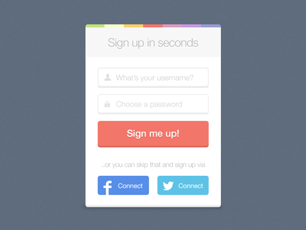 Sign up (freebie)