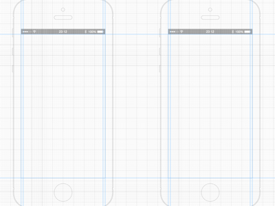 iPhone 5 White Wireframe Template Sketch Resource