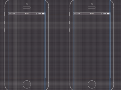 iPhone 5 Black Wireframe Template Sketch Resource