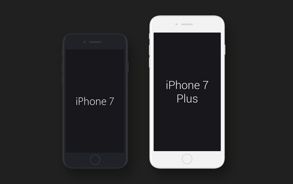 Iphone 7 And Iphone 7 plus Mockups