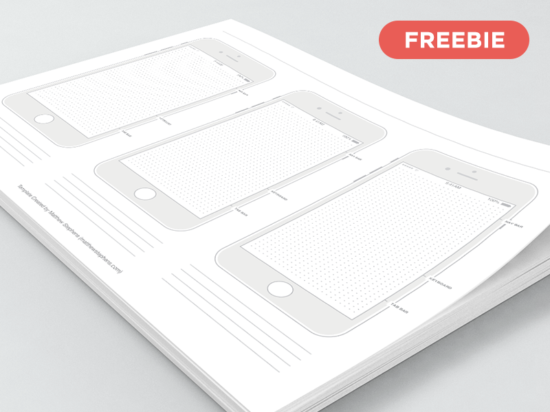 iPhone 7 Wireframe Template