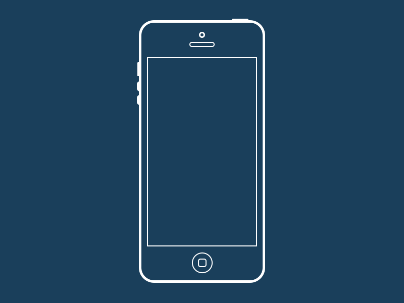 iPhone 5 Wireframe (PSD)