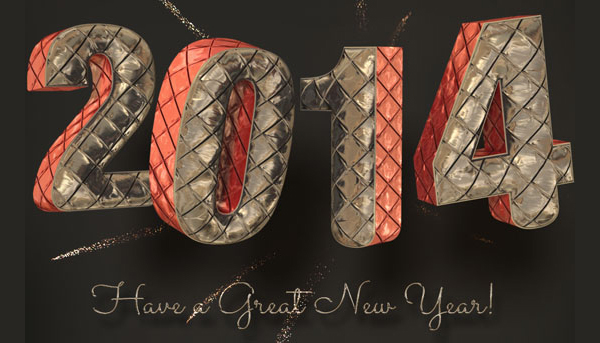 Shiny Inflated Foil 3D Text Effect