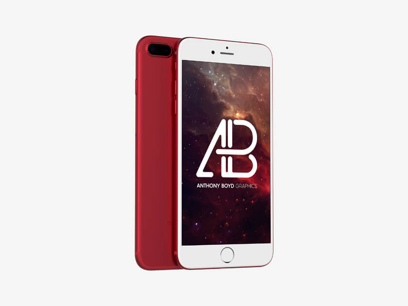 Red iPhone 7 Mockups