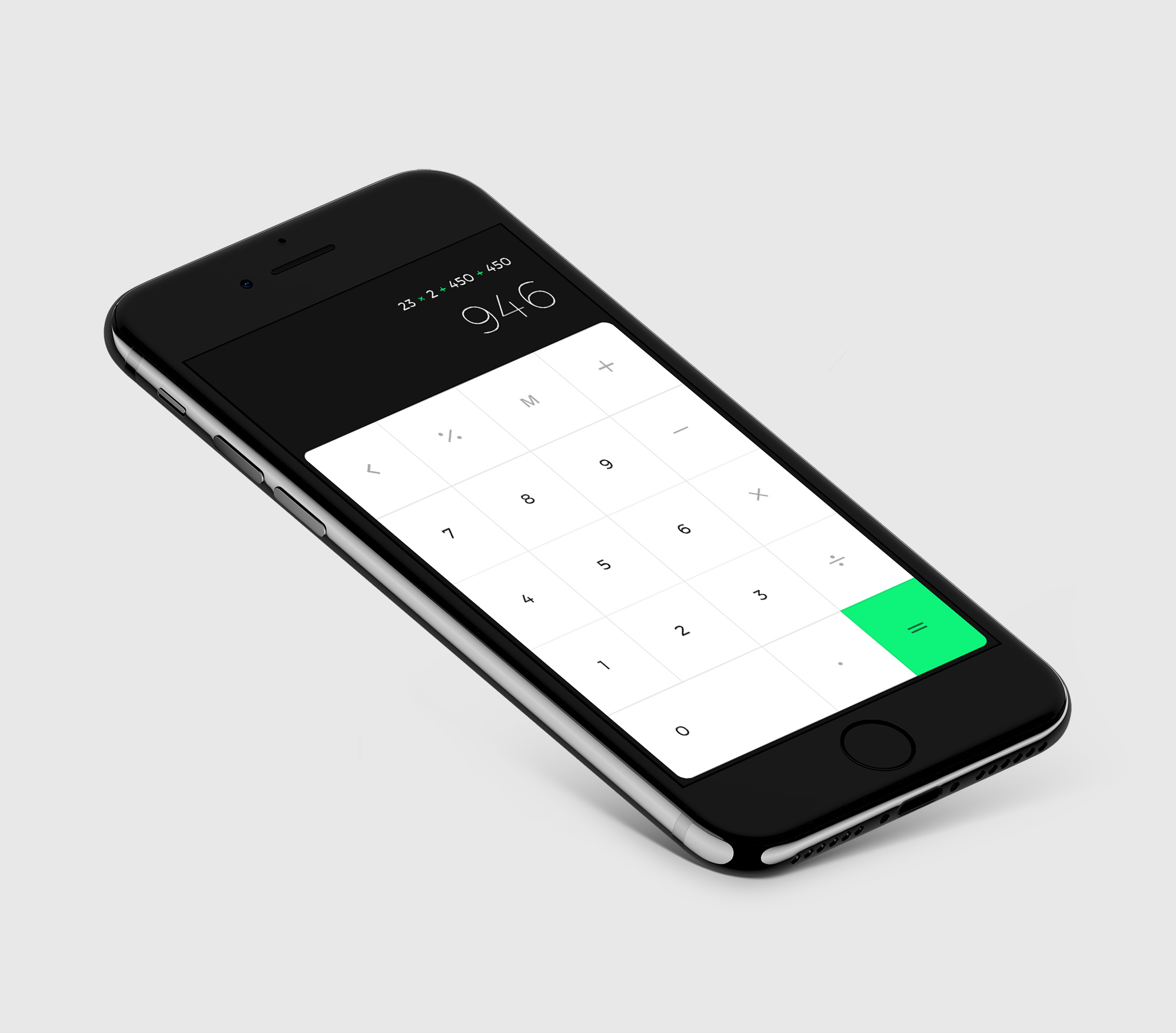iPhone Mockup with iOs Calc