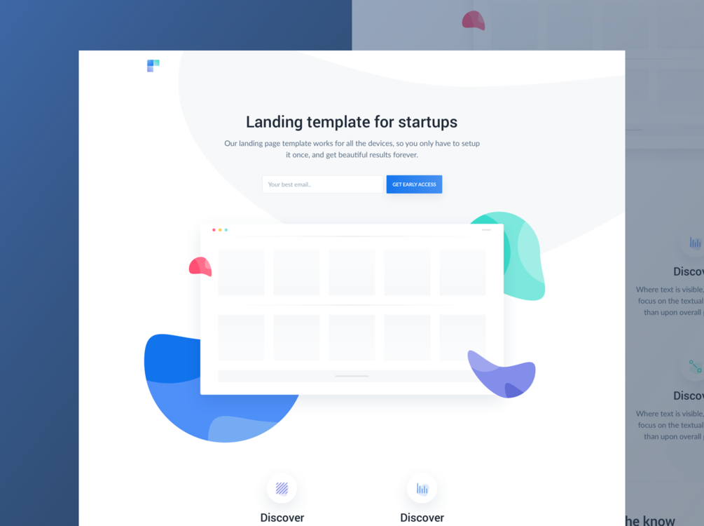 Get Free Ava HTML Landing Page for Beta Products