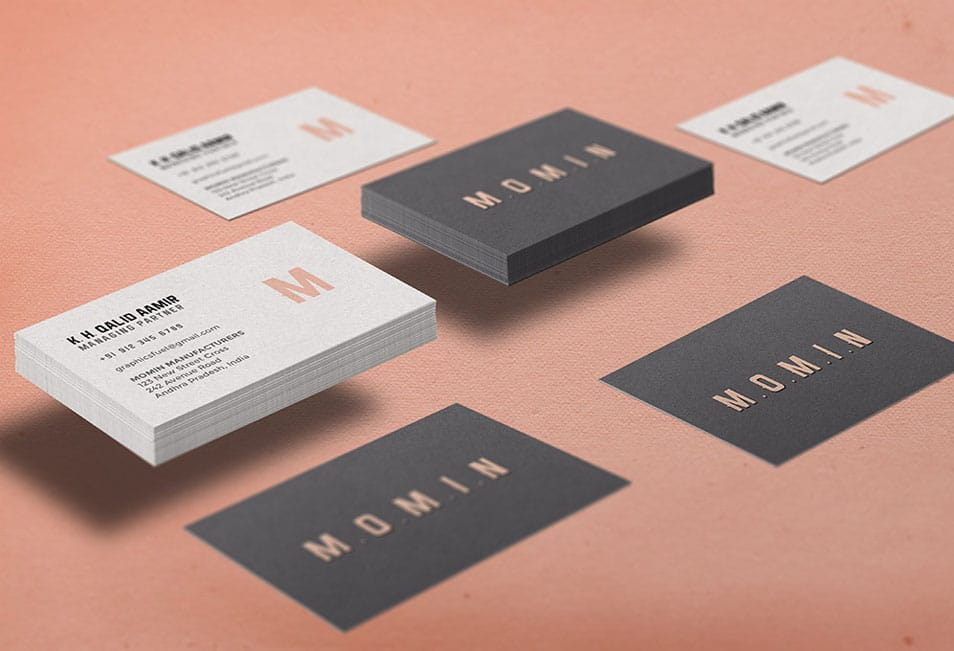 Boxed Business Card Mockup