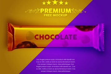 Chocolate Wrapper Mockup