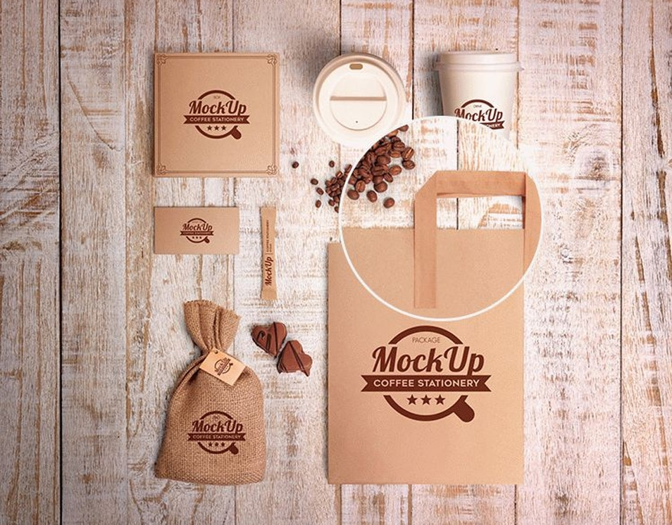 Coffee Stationary Set Mockup