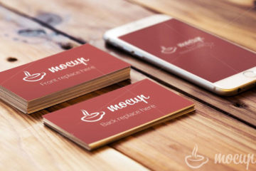 iPhone 6 and Business Card Mockup