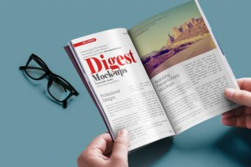 Digest-sized Magazine Mockup