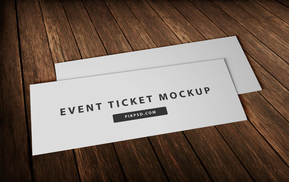 Event Ticket Template Mockup