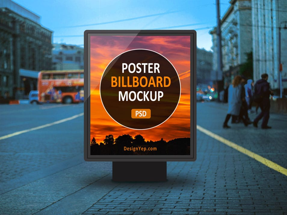 Outdoor Poster Billboard Mockup