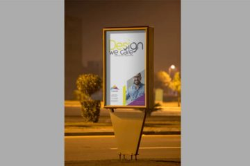 Outdoor Roadside Poster Mockup