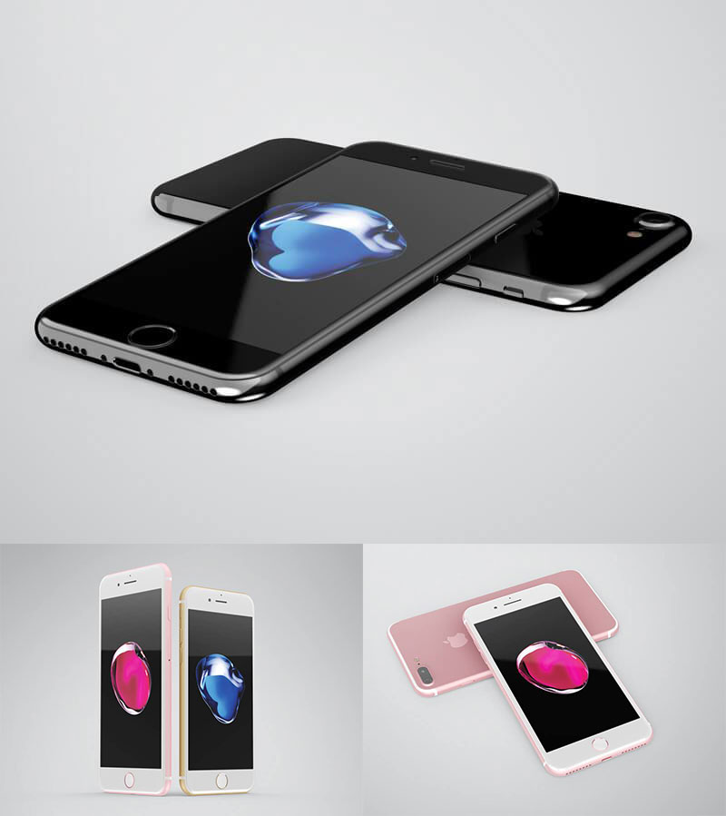 iPhone 7 Mockups All Colors