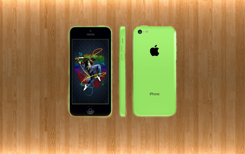 Green iPhone Mockup