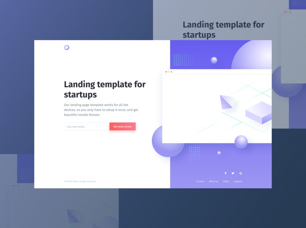 Free Holly Pre-launch Landing Page