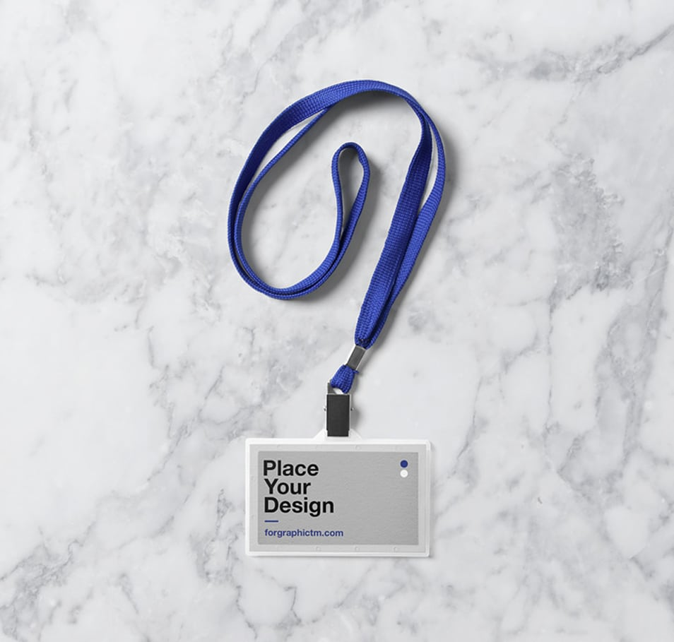 ID Card Holder Mockup