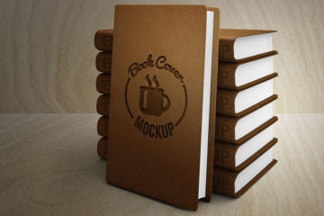 Leather Book Cover Mockup