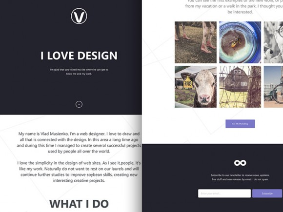 Lithium One Page Template