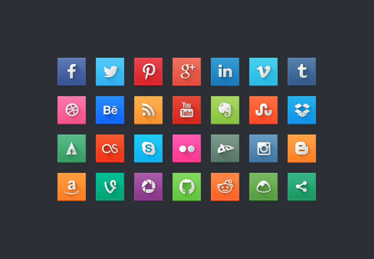 Free Modern Social Media Icons For Your Collection