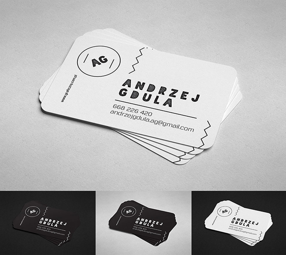 Rounded Edge Business Card Mockup