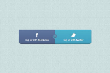 Free Facebook and Twitter Login Buttons