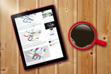 Coffee Tablet Template Mockup