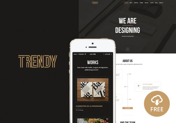 Trendy Creative One Page Template