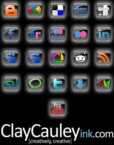 Black Square Social Media Icon