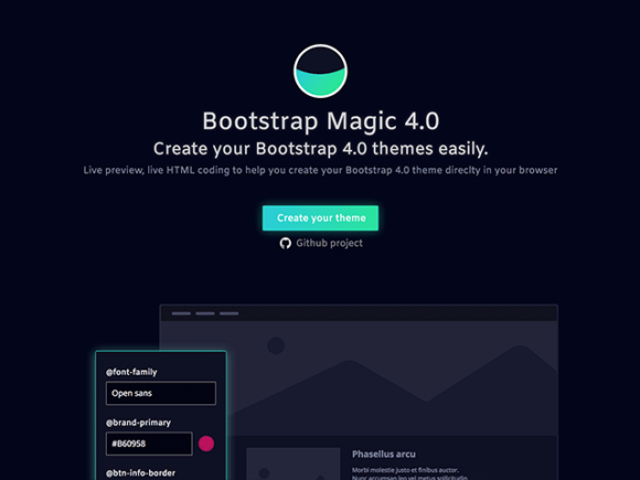 Download this Free Bootstrap Magic