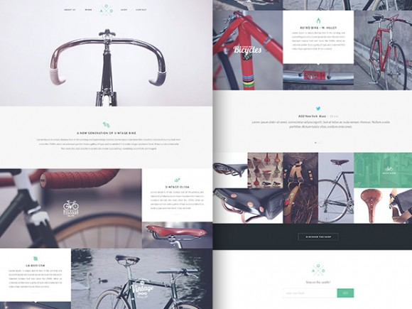 Bicycle Flat One Page Template