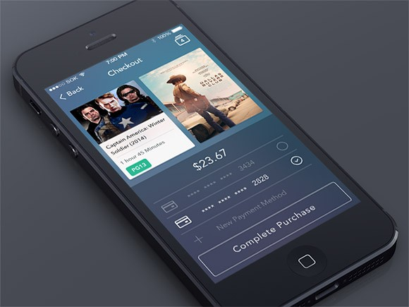 Checkout Screen App in PSD
