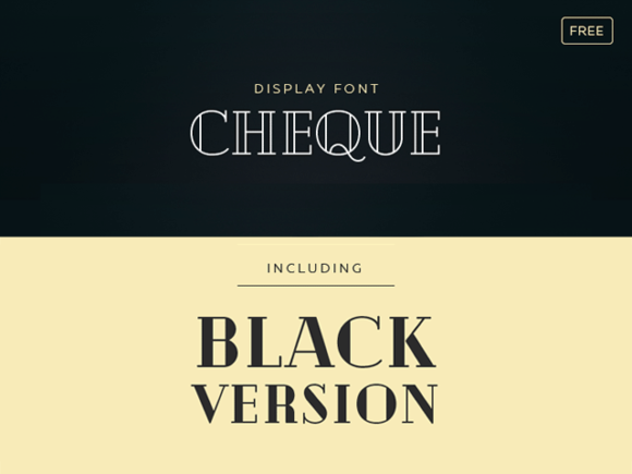 Cheque Font