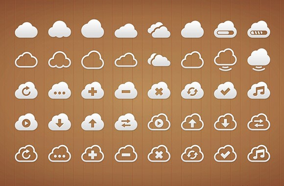 40 Cloud Icons