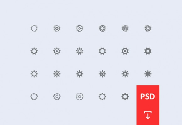Cogwheel Settings Icons